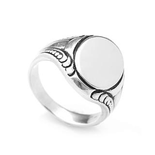 Stříbrný pánský pečetní prsten oválek 000.00031