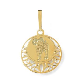 Zlatý přívěsek znamení Beran kolečko 000.00110