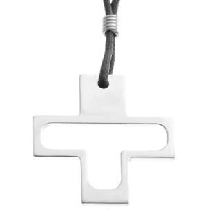 Ocelový přívěsek křížek na lanku.05.00010