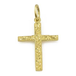 Zlatý křížek rytý 05.000.00022