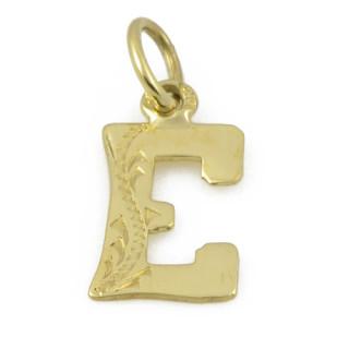 Zlatý přívěsek písmeno E 000.00030