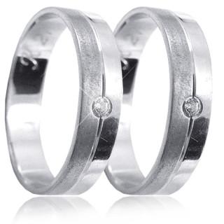 Stříbrné snubní prsteny K21