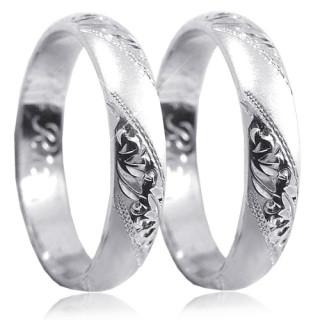 Stříbrné snubní prsteny P4R15