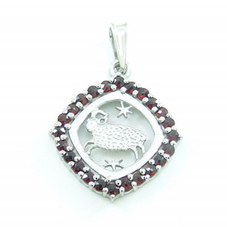 Stříbrný přívěsek s granáty Beran 970.00008