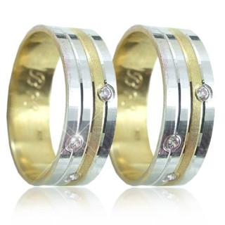 Zlaté snubní prsteny 04.B78