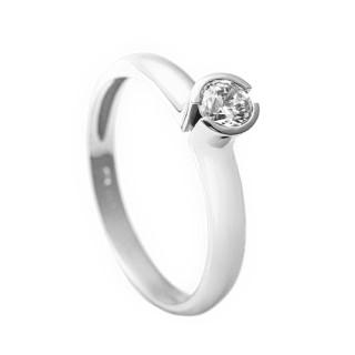 Zlatý zásnubní prsten se zirkonem 223021179