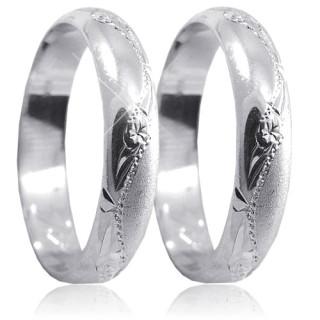 Snubní prsteny z bílého zlata 04.A24