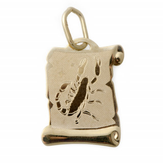Zlatý přívěsek znamení Štír pergamen 0 000.00057