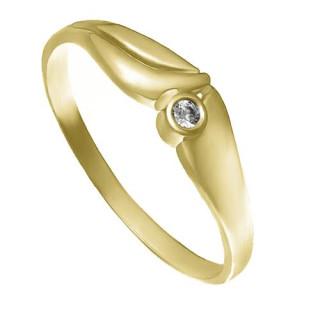 Zlatý prsten se zirkonem ZZ10.226022020