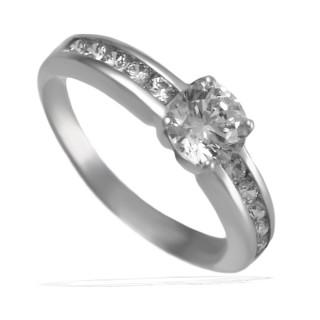 Zlatý zásnubní prsten se zirkony 010.00050