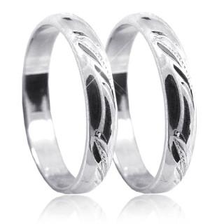 Snubní prsteny z bílého zlata 04.P4R12