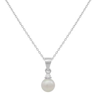 Stříbrný náhrdelník s perlou 15.AGS214