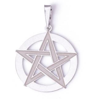 Stříbrný přívěsek pentagram 000.00113