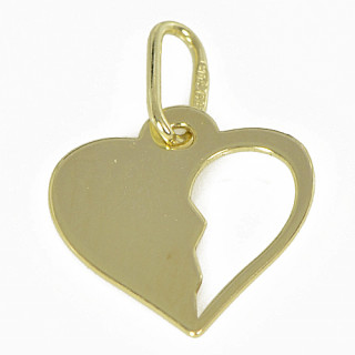 Zlatý přívěsek srdíčko PA0187
