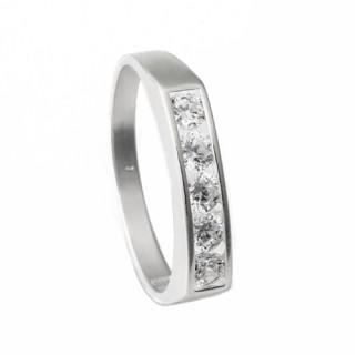Zlatý prsten s pěti zirkony 010.00219