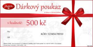 Dárkový poukaz v ceně 500Kč DP00500