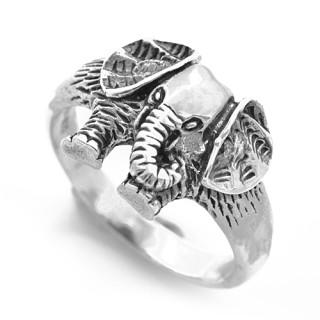 Stříbrný prsten slon 000.00212