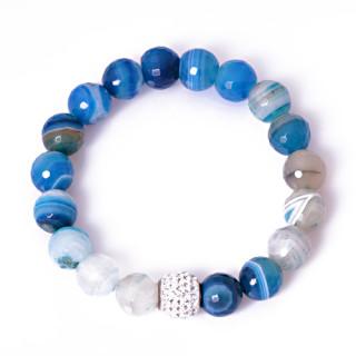 Náramek kulaté modré kameny 211.00002