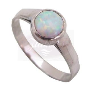 Prsten z bílého zlata s opálem 840.00068