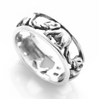 Stříbrný prsten sloni 000.00211