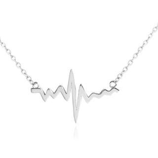 Stříbrný náhrdelník heartbeat