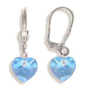 Stříbrné náušnice s krystaly Swarovski 10020019