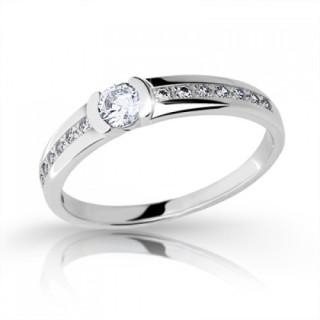 Zlatý zásnubní prsten se zirkony 2106.11
