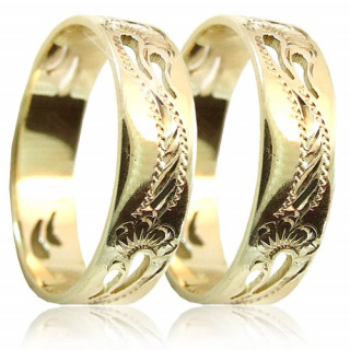 Snubní prsteny ze žlutého zlata 04.A8