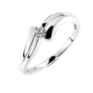 Prsten z bílého zlata s diamantem Gems Celie 990.386-0106