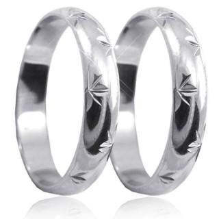 Stříbrné snubní prsteny P4R13