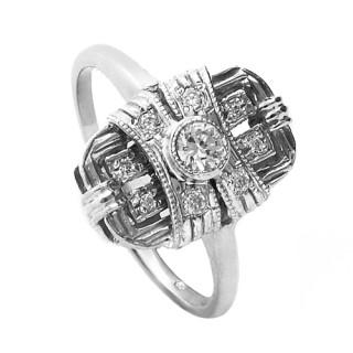 Stříbrný prsten se zirkony 010.00257