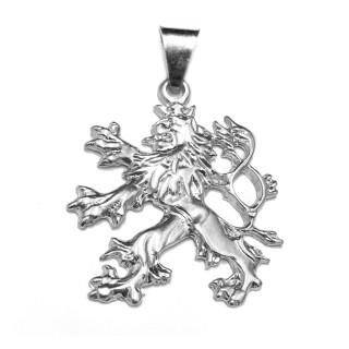Stříbrný přívěsek český lev 000.00093