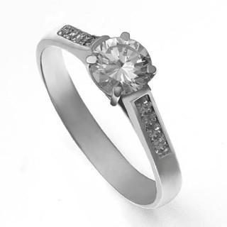 Zlatý zásnubní prsten se zirkony 226022125