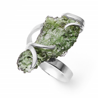 Stříbrný prsten s vltavínem 860.00002