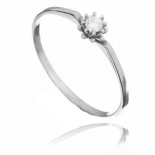 Zlatý zásnubní prsten s diamantem 2301901DI