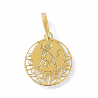 Zlatý přívěsek znamení Býk kolečko 000.00111