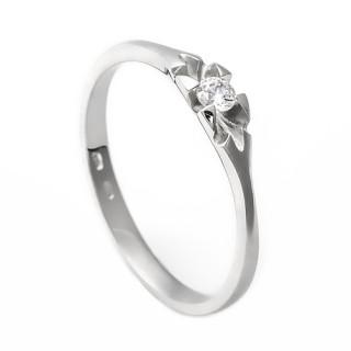 Zlatý zásnubní prsten se zirkonem 226022158