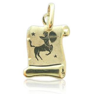 Zlatý přívěsek znamení Střelec žluté zlato pergamen 000.00093