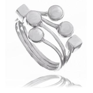Luxusní zlatý prsten s výrazným vzorem 000.00108