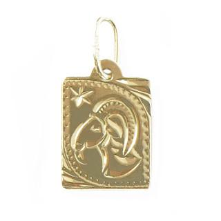 Zlatý přívěsek znamení Kozoroh destička malá 000.00129