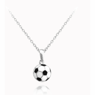 Stříbrný náhrdelník fotbalový míč