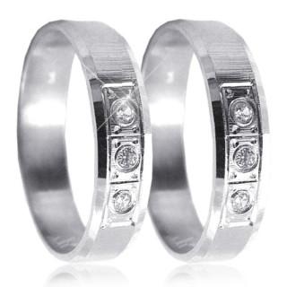 Stříbrné snubní prsteny 04.K26