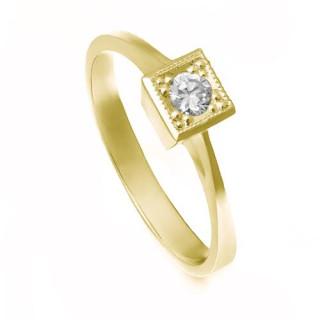 Zlatý zásnubní prsten se zirkonem ZZ10.223023071