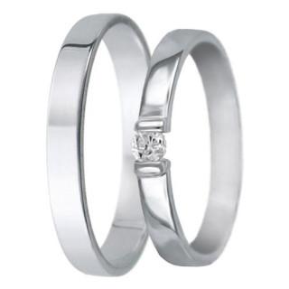 Snubní prsteny - bílé zlato 04.hu008