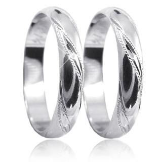 Snubní prsteny z bílého zlata 04.P4R14