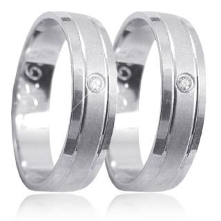 Snubní prsteny z bílého zlata 04.K63