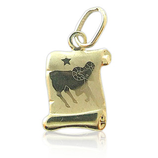 Zlatý přívěsek znamení Beran žluté zlato pergamen 000.00089