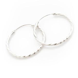 Stříbrné kruhy střední kroucené 35mm 000.00035