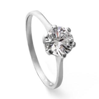 Zlatý zásnubní prsten se zirkonem ZZ11.5023
