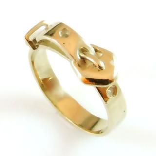Prsten ze žlutého zlata opasek 000.00046